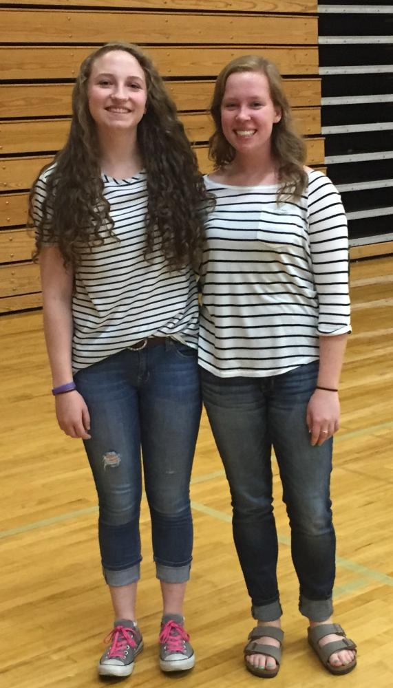 Seniors Brianna Canning and Bonnie Long pose together. Photo Courtesy of Brianna Canning