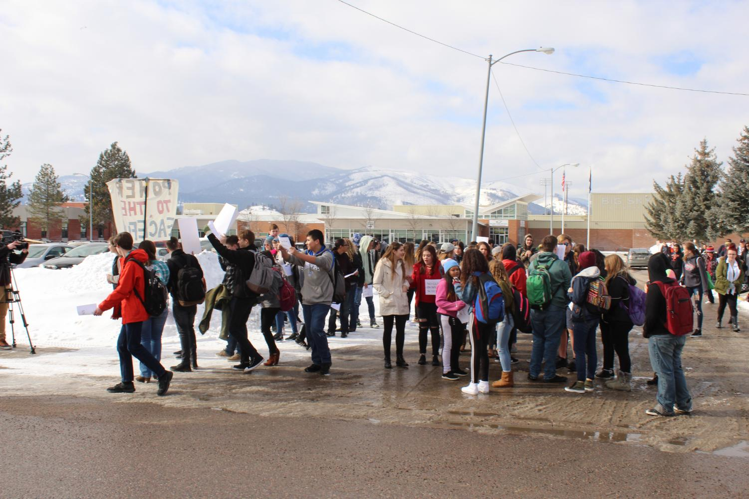 Students at the Feb 21 walkout.