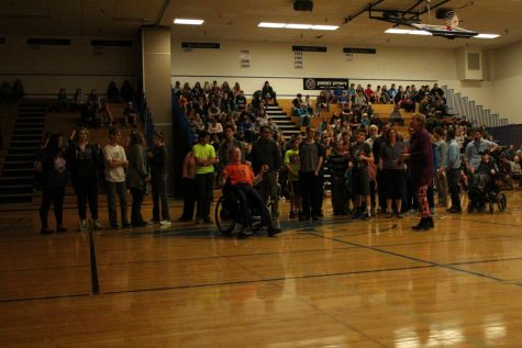 The Special Olympics Students.