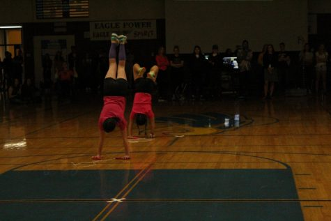 Two Super Skippers doing a trick while jump roping