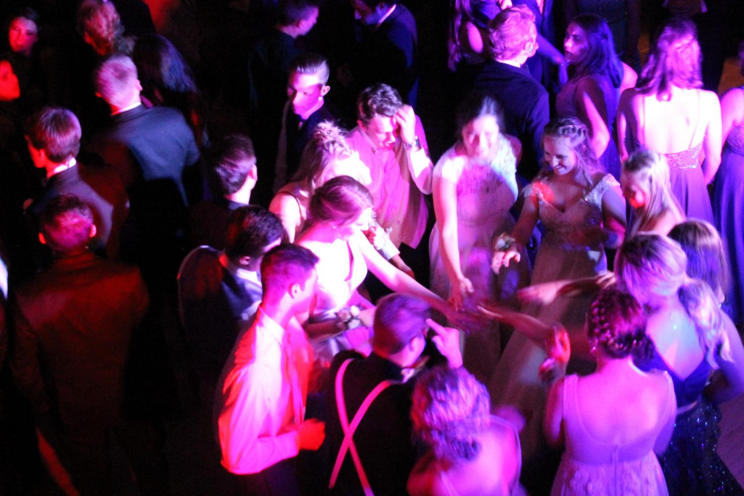 students having fun on the dance floor