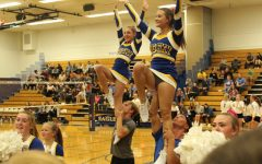 Cheerleader doing stunt