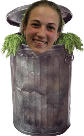 Face photo shopped onto Oscar the Grouch