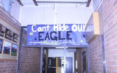 banner hung in school hallway
